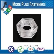 Made in Taiwan Transparente oder farbige Nylon Kunststoff Sechskantmuttern