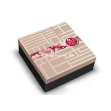 Boîte à papier cadeau personnalisée de gâteau de lune avec estampage de feuille