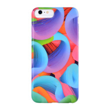 3D Splash-color Round Eddy Phone Case for IMD iPhone 6S Plus Case