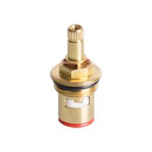 Taizhou Manufacture Bath Tap Ceramic 24 Spline Cn021 Brass Cartridge Faucet