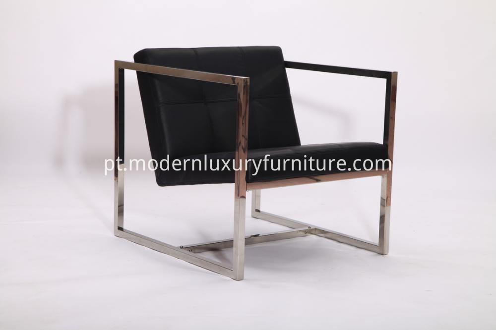 Replica Black Leather Angles Lounge Chairs