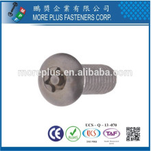 Fabricado em Taiwan Stainless Steel 306 M3X6mm Torx Drive Metric Machines Screw