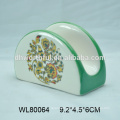 Handpainting creme cerâmico e tigela de açúcar definido para atacado