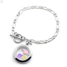 Échantillon gratuit vente chaude bracelet magnétique en argent, bijoux en acier inoxydable