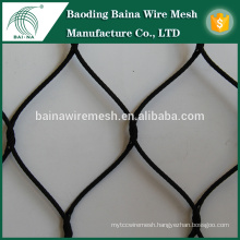 stainless steel oxidation black cable netting/stainless steel wire rope mesh net made in china