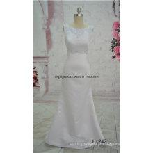 Custom Made A-Line vestido de casamento vestido de noiva de renda de tule