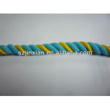 10mm colored cotton twisted cord
