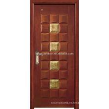 Teca de madera tallada puertas