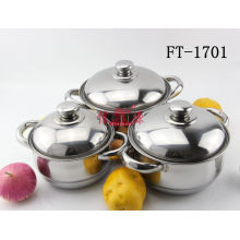 Stainless Steel 3PC Cookware Set (FT-1701-XY)