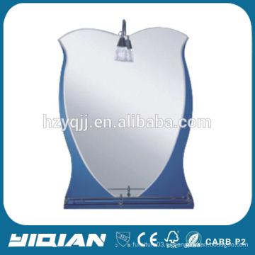 Зеркало с зеркальным зеркалом высокого качества с современным стеклянным полкой Высококачественное зеркало для бритья