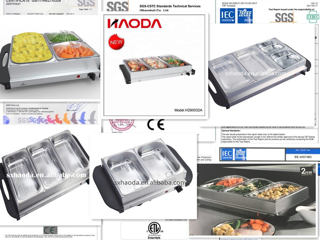 3 Section Food Warmer
