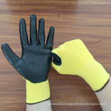 anti-static 13 gauge nitrile coated nylon gloves