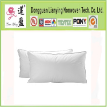 Standard Size White Cotton Polyester Fiber Hotel Pillow