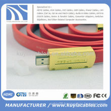 Fsahion HDMI Flat Cable 1.4 3D 4K DVD HDTV 1080P
