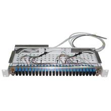24 сердечника SC Дуплекса пульта временных соединительных кабелей 19 дюймов odf