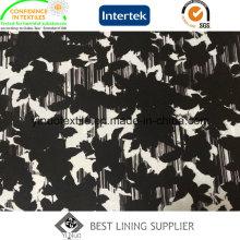 Doublure d'impression de sergé de la mode 100% polyester 260t