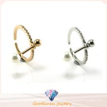 925 bijoux en argent Real Natural Pearl Ring Créer des dessins G (R10470)