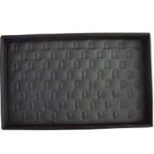 Schwarzes PU bedeckte Schmucksache-Ring-Anzeigen-Kasten-Behälter