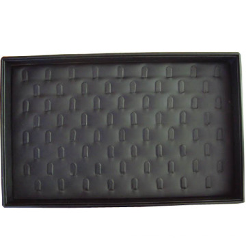 Black PU Covered Jewelry Ring Display Box Tray
