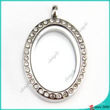 Pendentif médaillon en cristal ovale pour la vente en gros