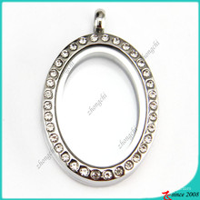 Crystal Oval Locket Pendant for Wholesale