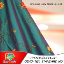 100%Polyester Taffeta, Nylon+Polyester Taffeta Fabric with Flower Embroidery Fabric for Curtain Cushion Tablecloth and Other Decoration