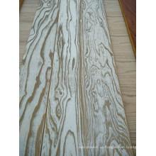 Revestimento de madeira maciça delicado projetado do parquet do olmo de 3 camadas