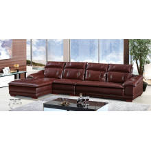 Coffee Color Leather Sofa, Modern Sofa, Sectional Sofa (A32)