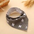 Baby Bandana Drool Lätzchen mit Beißring Infant Triangle Lätzchen Baumwolle Speichel Handtuch mit einem snaps Baby Lätzchen