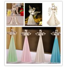 Exquisito personalizado para regalos de recuerdo de boda Crystal Angel