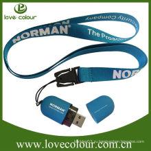 Популярный пользовательский шнур для ремня / usb drive lanyard clip
