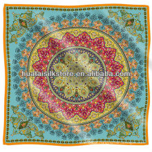 Azul UK royal paisley 100% seda scarf marca 90x90cm