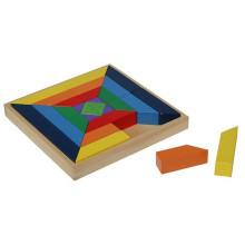 Boîte à puzzle en blocs géométriques en bois