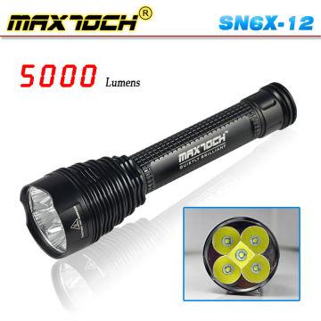 Cree Maxtoch SN6X-12 4500 lúmenes 26650 llevaron la antorcha Super capacidad