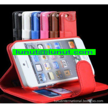 Leather iphone case,iphone5 wallet case