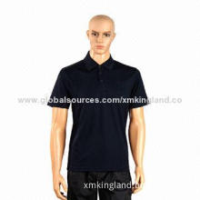 Golf Polo, Golfing Wear, Comfortable and Breathable, Made of 100% Polyester Material