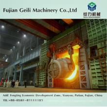 Máquina de fundição contínua de lingotes de aço