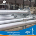 Hot dip galvanized solar street light pole design with powder coating.