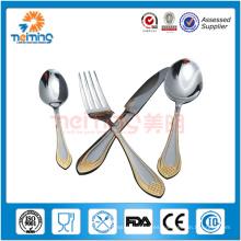 Vajilla de acero inoxidable del producto de la mejor venta 4pcs, cubertería, cuchillo, sopa y cuchara y tenedor del té