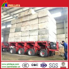Remorque modulaire hydraulique facultative pour le transport en vrac de cargaison