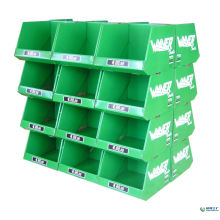 Supermarket Retail Cardboard Pallet Display, Durable Corrugated Display Racks