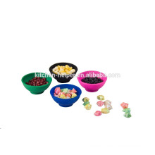 Promotional 4 pcs heat resistant silicone bowl