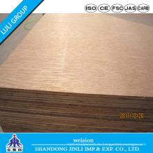 Sperrholz mit Pappelkern und Okoume Furnier