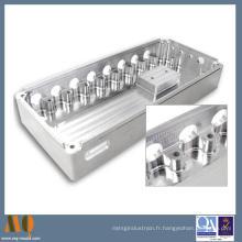 Pièces de usinage de commande numérique par ordinateur de commande numérique par ordinateur de 5 axes usinant des pièces en aluminium