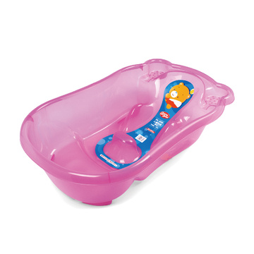 Big Transparent Infant Bathtub With Injected Bathbed