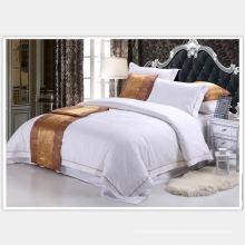 100% algodón lino bordado conjunto para el hotel (WS-2016326)