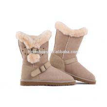 Comfortable Lady Winter Boot Flat Buckle Stap Working Boots