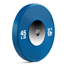 Gym Weight Plate LB Fitness Weightlifting Rubber Bumper Plate