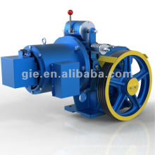 Worm gear motor for elevator