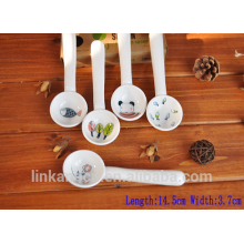 Haonai New design Funny and Cute mini ceramic spoon